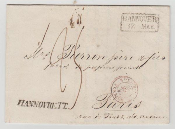 Hanover to Paris 1843
