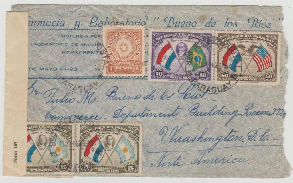 Paraguay censored 1943