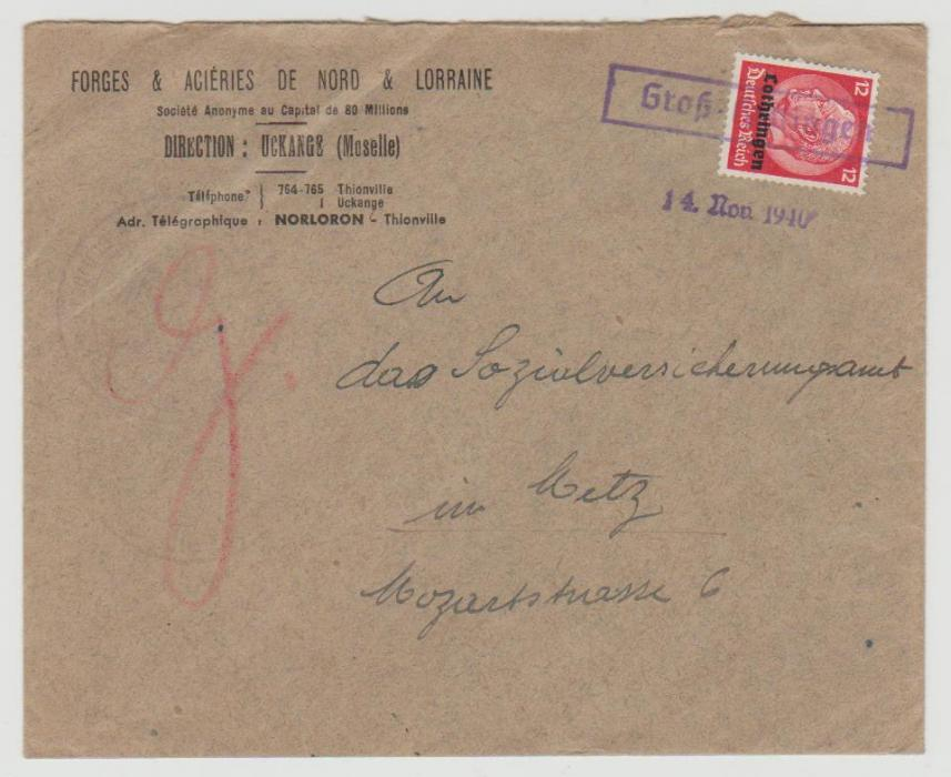German Occupation of Lorraine