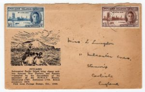 PITCAIRN ISLANDS: 1946 COVER TO ENGLAND.