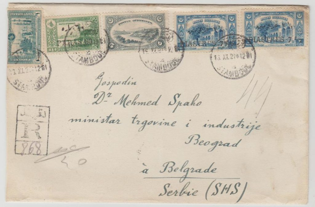 Turkey registered to Serbia 1921
