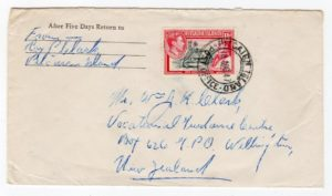 PITCAIRN ISLANDS: 1947 COVER TO NEW ZEALAND.