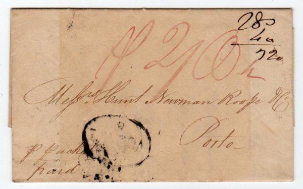 SCOT - GREENOCK: 1823 ENTIRE LETTER TO PORTUGAL.