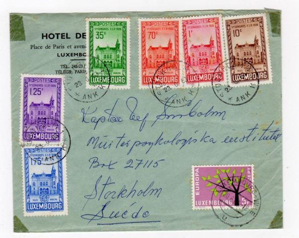 LUXEMBOURG: 1963 COVER TO SWEDEN