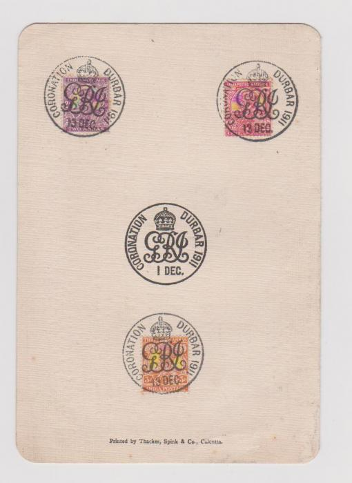 INDIA CORONATION DURBAR 1911 POST OFFICE LEAFLET OF POSTAL SERVICES.