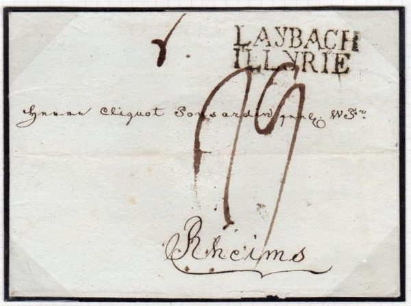 ILLYRIAN PROVINCES: 1813 WRAPPER WITH LAYBACH/ILLYRIE MARK.