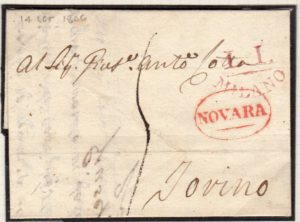 FRENCH OCCUPATION OF ITALY 1806 ENTIRE LETTER.