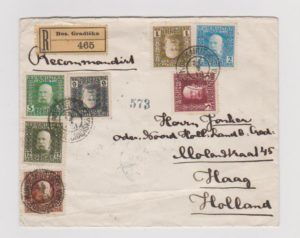 BOSNIA REGISTERED COVER FROM BES.GRADISKA TO HOLLAND