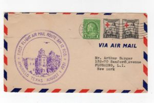 USA: 1931 COMMEMORATIVE COVER FOR THE FIRST FLIGHT MAIL ROUTE AM 12.