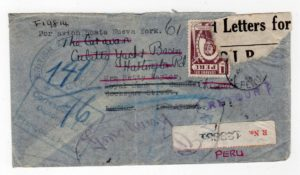 PERU: 1946 REGISTERED COVER FROM BRITISH EMBASSY IN LIMA TO ENGLAND RETURNED TO SENDER
