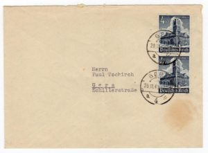 GERMANY: 1940 COVER WITH WINTER RELIEF STAMPS.