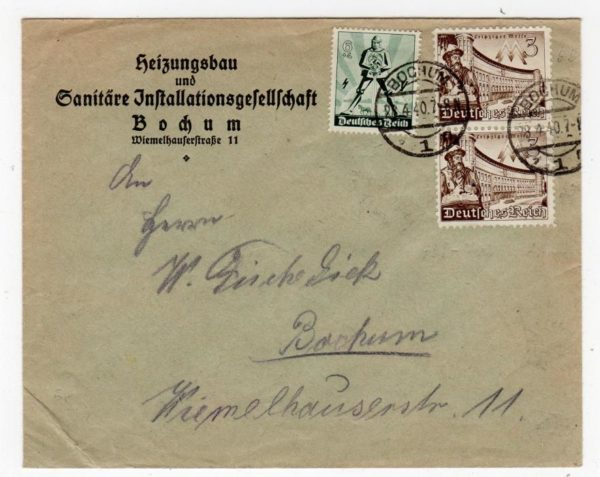 GERMANY: 1940 COMMERCIAL COVER.