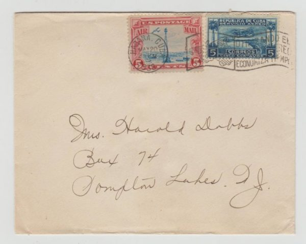 USA MIXED FRANKING WITH CUBA