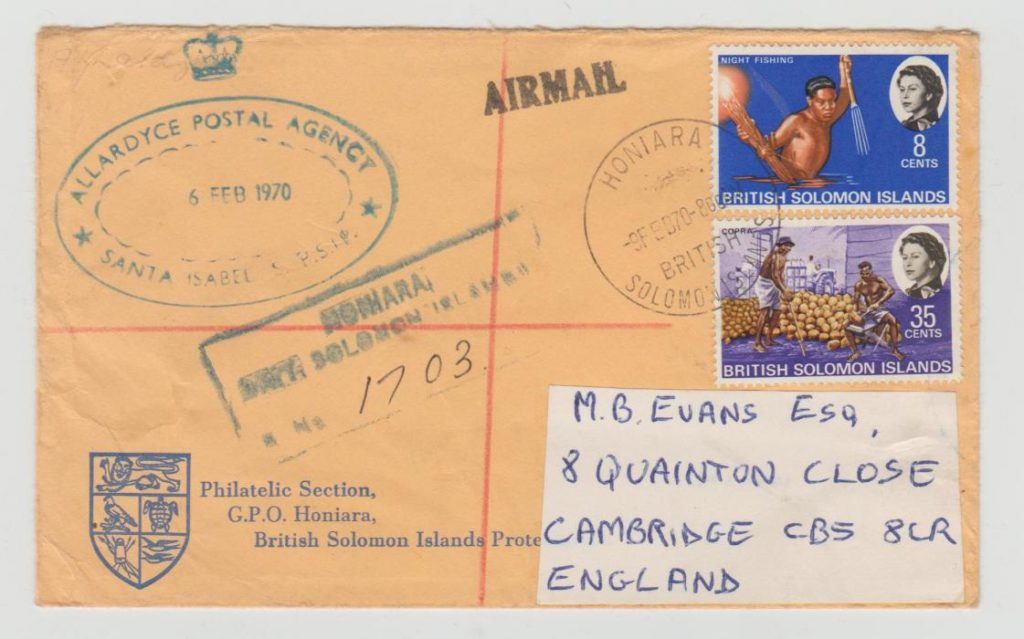 SOLOMON ISLANDS POSTAL AGENCY ALLARDYCE