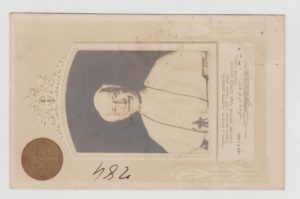 ITALY REGISTERED POSTCARD WITH ILLUSTRATION OF POPE LEO XIII 1899-1900