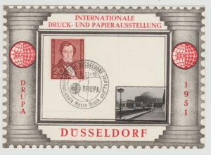 GERMANY SPECIAL EXHIBITION CARD WITH WEST BERLIN STAMP 1951