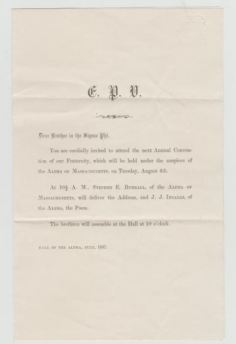 USA MASONIC NOTICE & ENVELOPE
