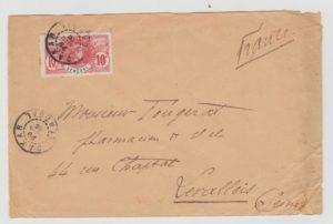 SENEGAL 10C FAIDHERBE ON LARGE ENVELOPE 1906