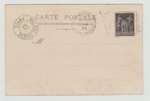 FRANCE 1900 EXHIBITION CARD VILLAGE SUISSE