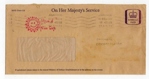GB-SCOTLAND: 1981 OHMS OFFICIAL PAID ENVELOPE WITH BENBECULA POSTMARK.