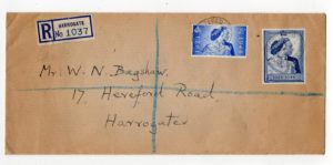GB-YORKS: 1948 REGISTERED SILVER WEDDING FIRST DAY COVER.