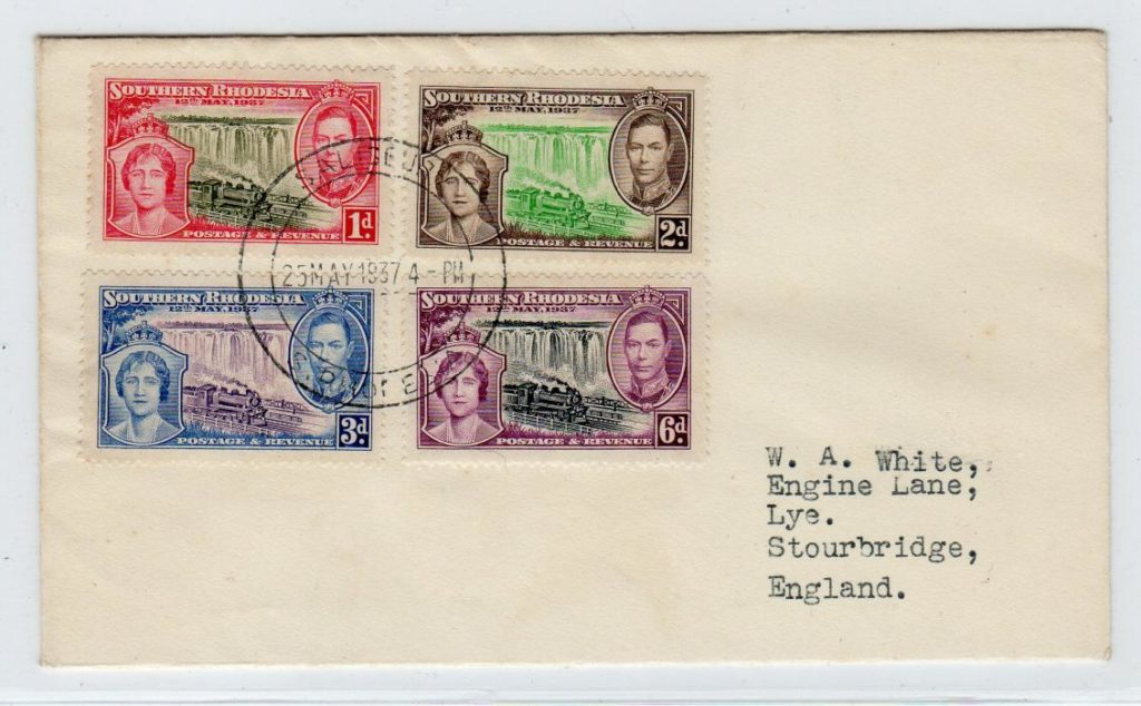 SOUTHERN RHODESIA: 1937 COMMEMORATIVE COVER