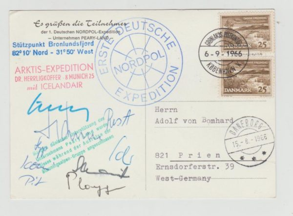 DENMARK FIRST GERMAN NORTH POLE EXPEDITION 1966