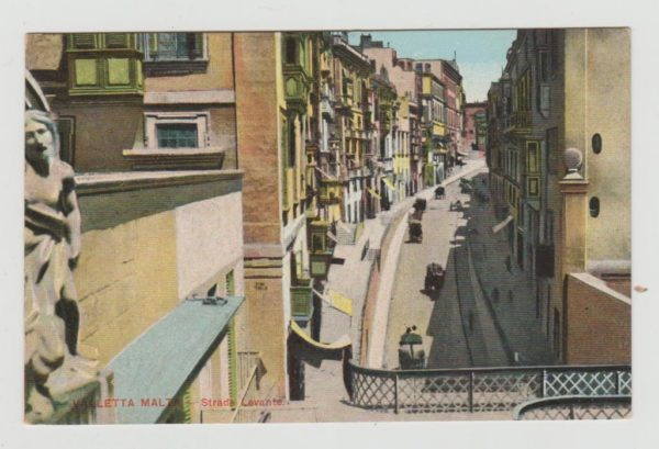 VALLETTA TO ROTTERDAM 1910 WITH 4 x 1/4d PICTORIAL