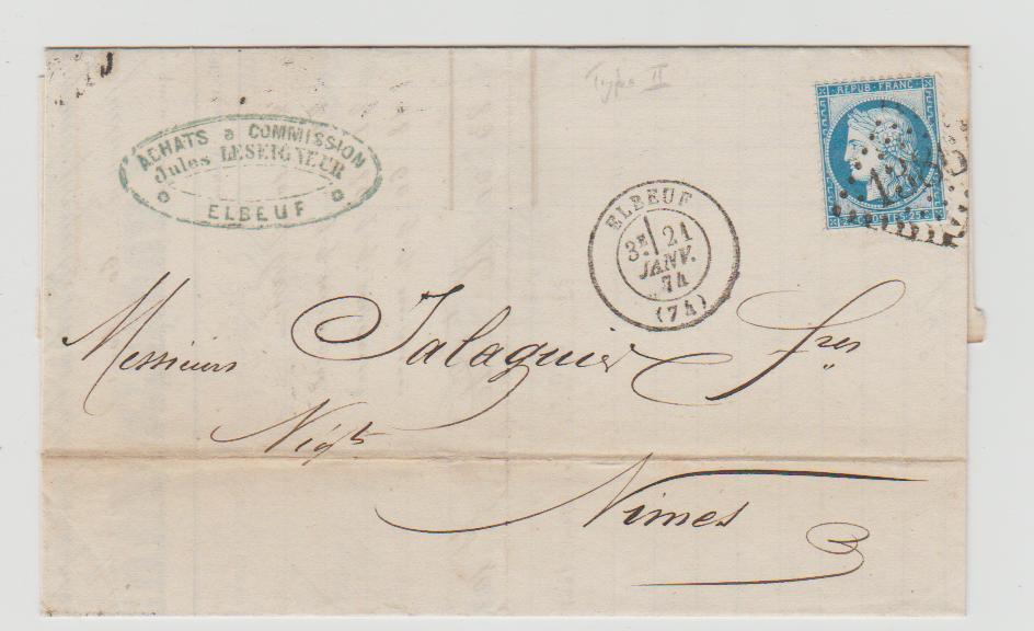 FRANCE 25c CÉRES TYPE 2 1874