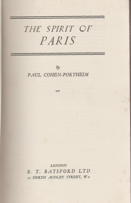 BOOK THE SPIRIT OF PARIS