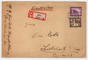 GERMANY: 1937 REGISTERED COVER.