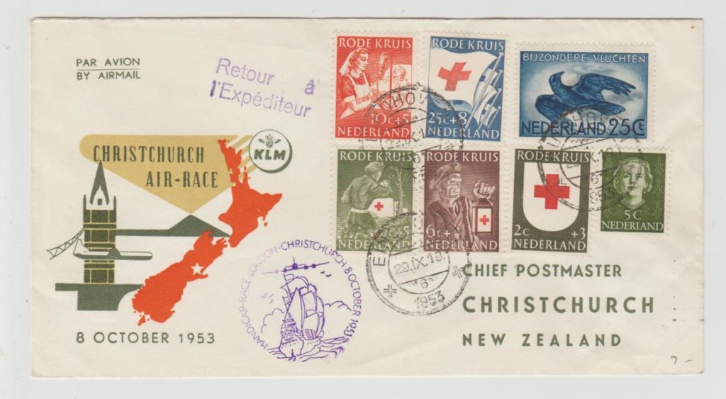 AIR RACE HOLLAND TO CHRISTCHURCH NEW ZEALAND 1953