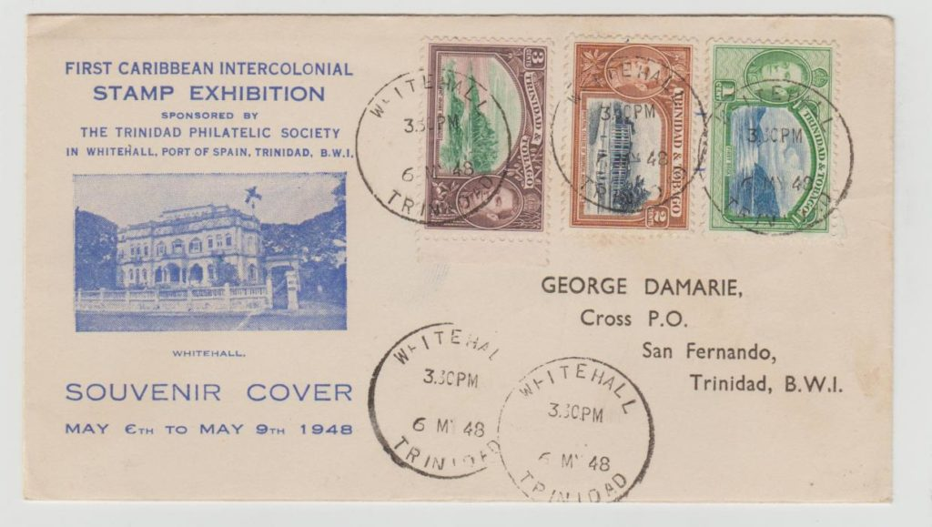 TRINIDAD 1st CARIBBEAN INTERCOLONIAL STAMP EXHIBITION 1948