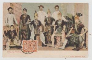 DUTCH EAST INDIES ETHNIC POSTCARD FROM JAVA TO BELGIUM
