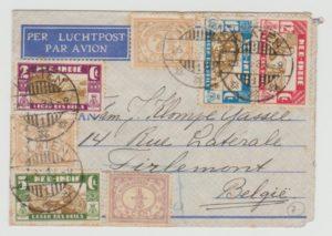 DUTCH EAST INDIES (RELIEF FUND ISSUE) TO BELGIUM 1933