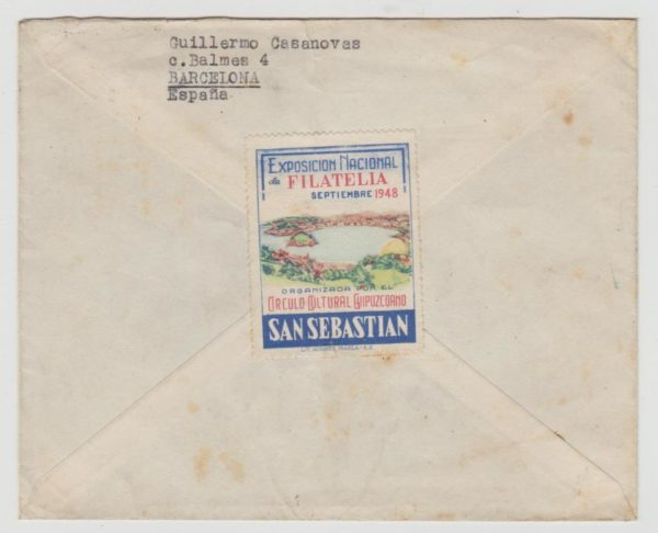 ENVELOPE TO CAIRO WITH STAMP EXHIBITION PUBLICITY