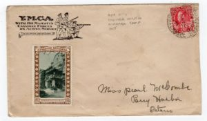 CANADA: 1916 YMCA COVER WITH FIELD POST OFFICE No.1 POSTMARK.
