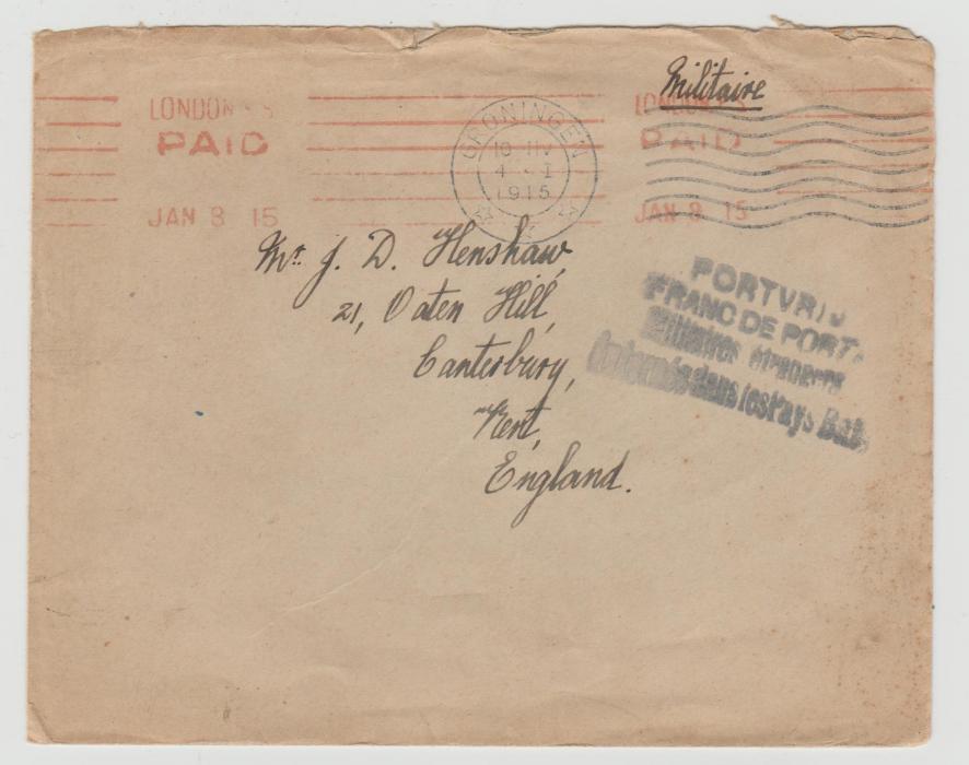 BRITISH SAILOR INTERNED IN HOLLAND 1915