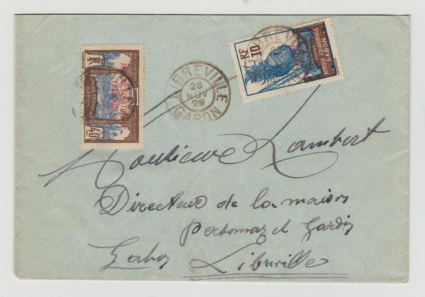 FRENCH COLONIES GABON LOCAL MAIL 1939