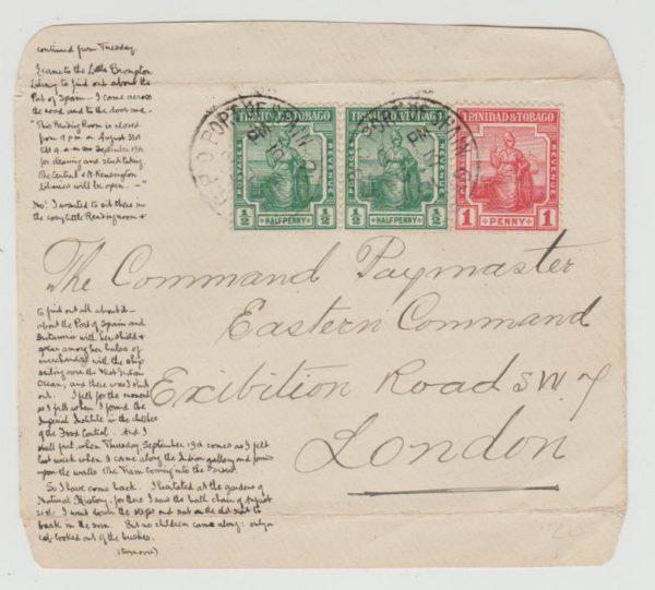 TRINIDAD & TOBAGO LETTERSHEET 1918