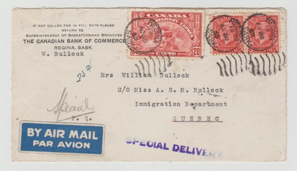CANADA SPECIAL DELIVERY 1935