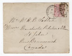 GB-LONDON: 1878 COVER TO CANADA.