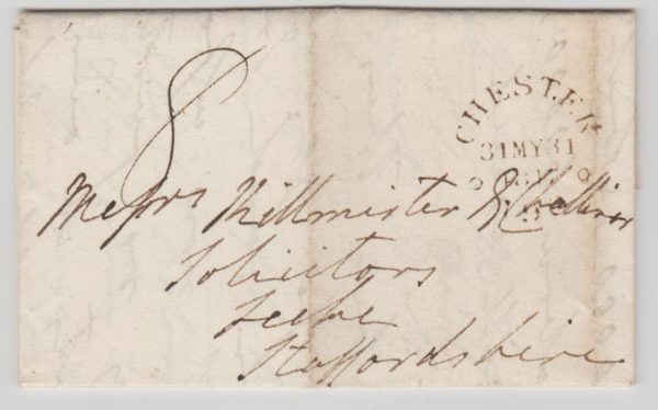 GB ENTIRE CHESTER TO TELFORD 1817