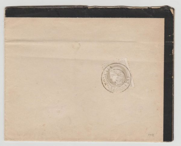 FRANCE 4C CERES ON MOURNING DOCUMENT 1875