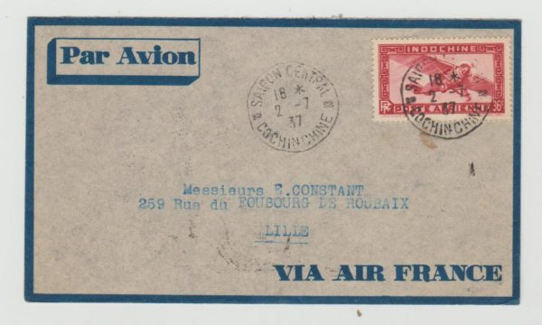 29-058  French Indo China Airmail 1937
