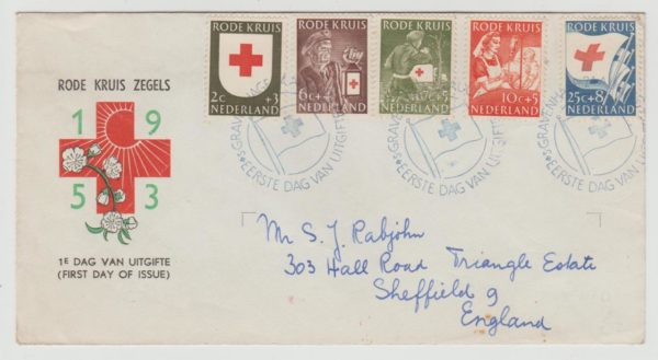 Netherlands Red Cross issue 1953 FDC