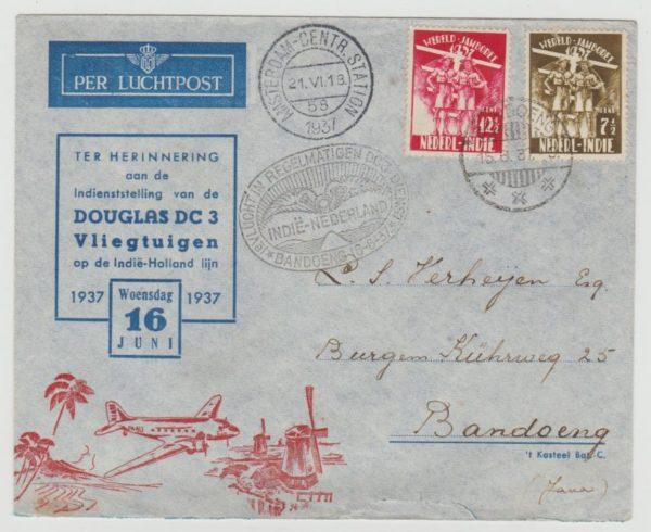 Netherlands Indies World Scout Jamboree 1937 Airmail envelope