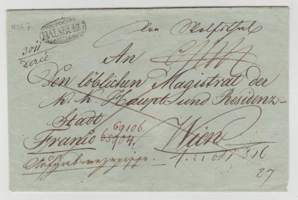 Austria wrapper & part letter