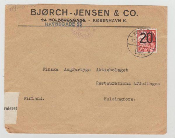 Denmark 1940 Censored to Finland