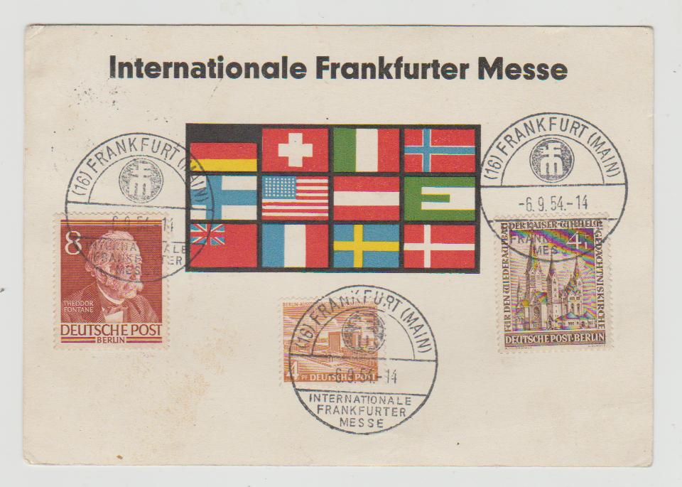 Germany Frankfurt Fair 1954